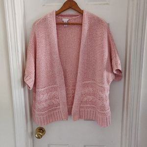 Chico's XL Pink Knitted Sweater